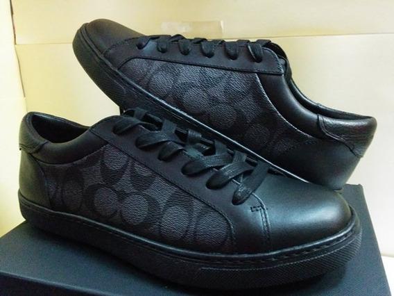 Coach Para Hombre C126 Low Top Sneakers Negro Fg1948