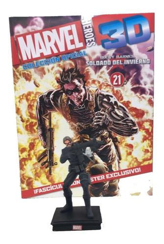 Imagen 1 de 10 de Figuras Marvel 3d Nº 21 Soldado Del Invierno