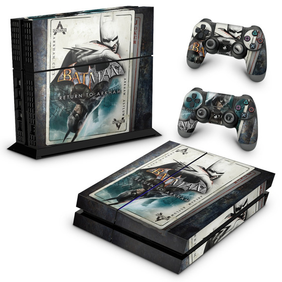 Skin Ps4 Fat Adesivo Playstation 4 Batman Return To Arkham