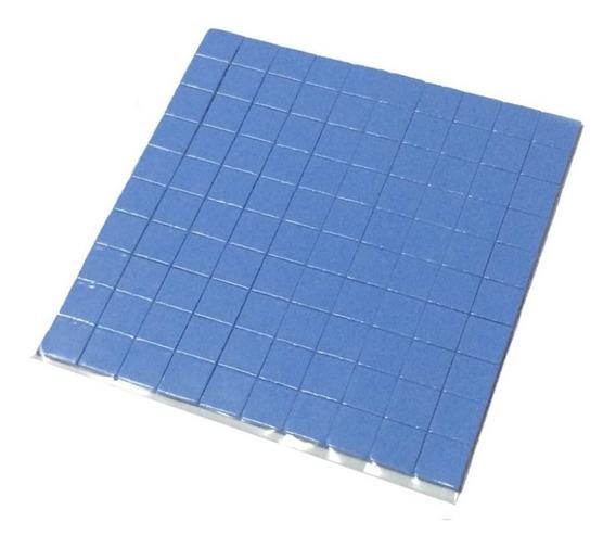 Thermal Pad Térmico Azul 10cmx 10cmx 1mm C/100 Unidades.
