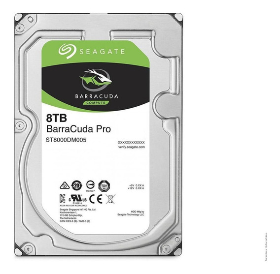 Hd Interno Seagate Barracuda Pro 8tb 7.200rpm 256mb Sata 6gb