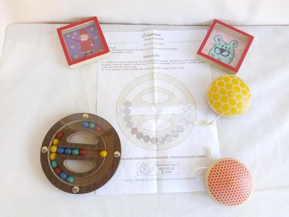 Brinquedos Educativos Genini Jogos Yo-yo Em Madeira O Lote