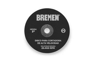 Disco De Corte 3 Cortadora Alta Velocidad Bremen Blister X 5