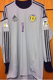 Camisa Escócia Preparada Jogo Eliminatórias 2014 Vs Gales