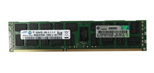 Memória Samsung 16gb M393b2g70cb0-yh9 Pc3l-10600r Servidor