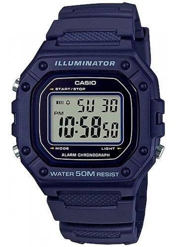 Imagem 1 de 10 de Relógio Casio Masculino Digital W-218h-2avdf Azul Escuro