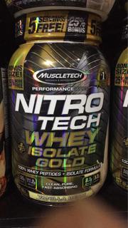Proteína 2 Libras Nítro Tech. Whey Gold Isolate $2,200