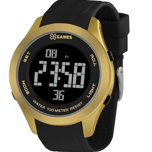 Relógio X Games Digital Dourado Xmppd602 Pxpx Silicone