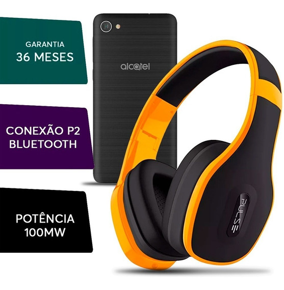 Fone Ouvido Headphone Pulse Bluetooth Celular Alcatel A5 Max