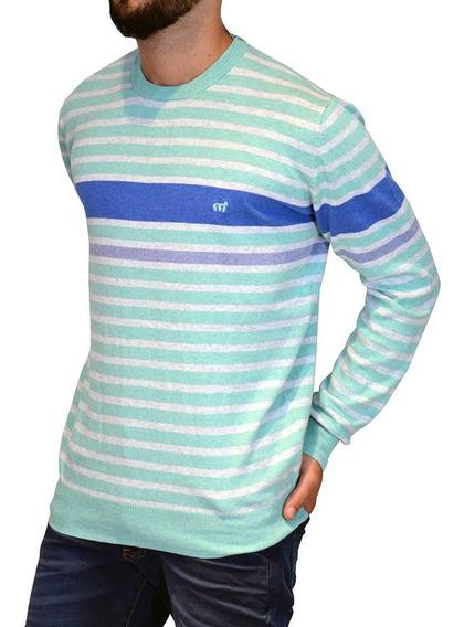 Sweater Pullover Rayado Algodón 14688n-1 Hombre Mistral