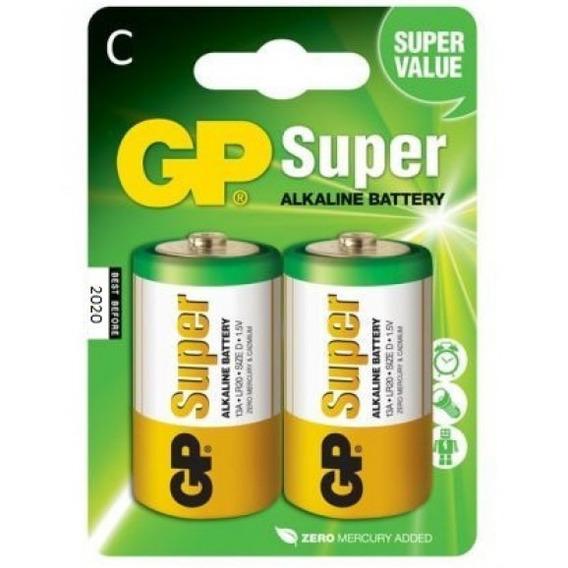 Pilha Alcalina Gp C - Cartela Com 2