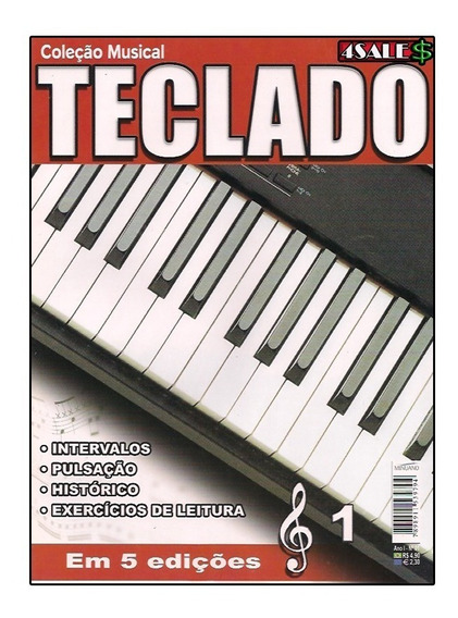 Revista Curso Teclado Ed.01 Básico Intervalos Pulsação Histo
