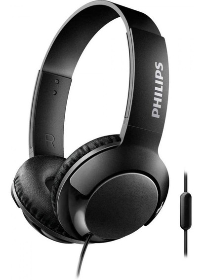 Fone Headphone Philips Shl3075 Bass Preto Com Microfone