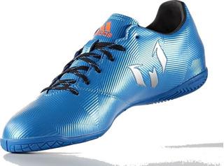 adidas Chuteira Messi 16.4 In Azul Aço Cinza - Fm1