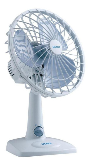 Ventilador de mesa Mondial V-16 branco e pás de cor azul, 30cm de diâmetro 110V