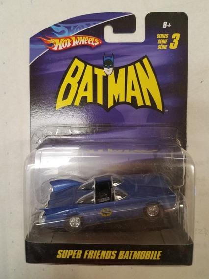 Batmovel Hot Wheels Super Amigos Batman Azul Série 2 1/50