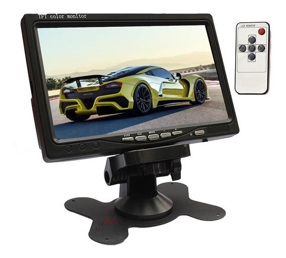 Monitor Veicular 7 Polegada Portatil Colorido P Camera De Ré