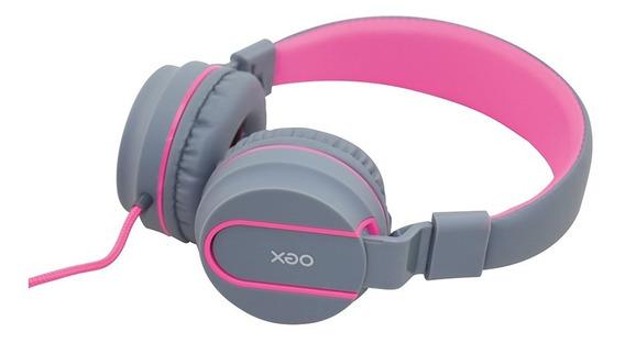 Fone De Ouvido Headphone Neon Rosa Hs106 Com Microfone Oex