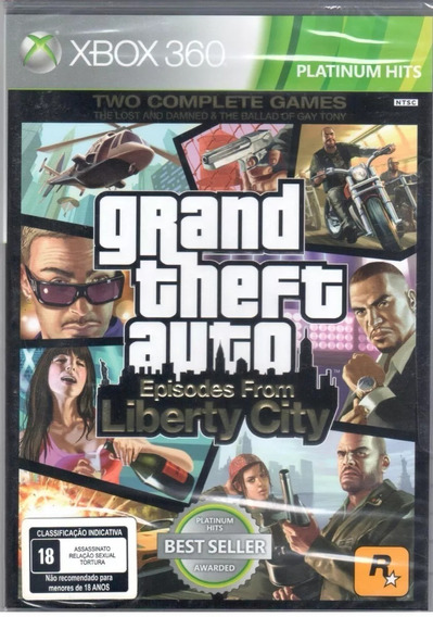 Gta Episodes From Liberty City Xbox 360 Mídia Física Lacrado