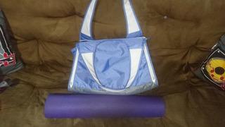 Bolsa Para Yoga O Pilates Azul