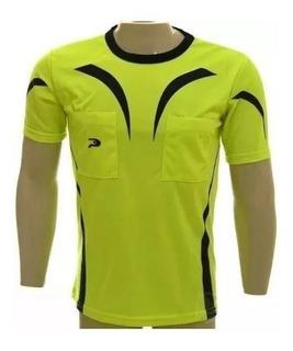 Camisa De Arbitro/juiz Placar Luminoso Amarelo