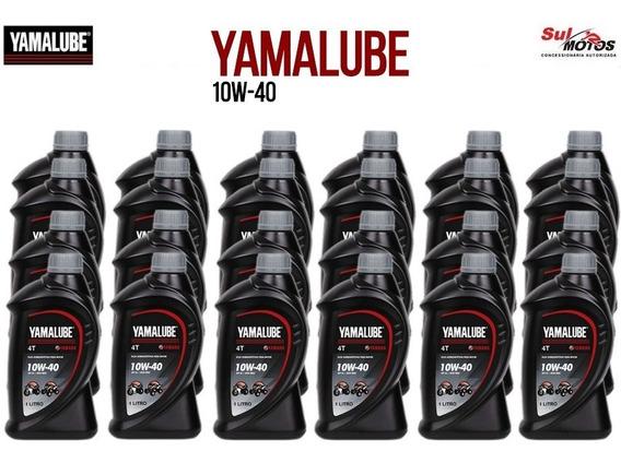 Caixa 24 Litros Óleo Yamalube Yamaha Mineral 4t 10w40 L
