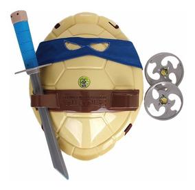 Fantasia Tartarugas Ninja Casco E Acessorios Tmnt Leonardo