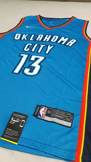 Camisa Paul George # 13 Okc Thunder Authentic Nba