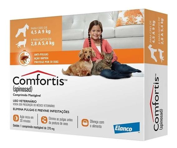 Comfortis 270 Mg Cães De 4,5-9kg E Gatos De 2,8-5,4kg