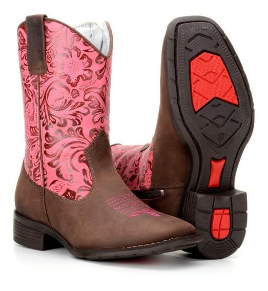 Bota Feminina Infantil Texana Country Western Couro 4country
