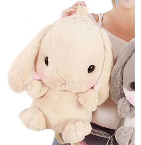 Mochila Bonita De Conejo Peluche Felpa Moda Kawaii Japón