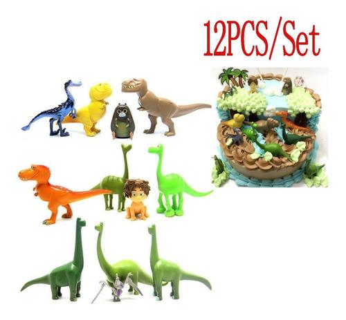 Imagen 1 de 8 de 12pcs Pvc Dinosaurio Maestro Decoración Pastel De Cumpleaños