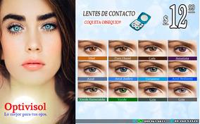 Lentes De Contacto A $12.99 Con Estuche De Lujo.