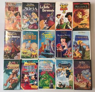 Coleccion De 15 Cassettes Vhs Originales De Disney Peliculas