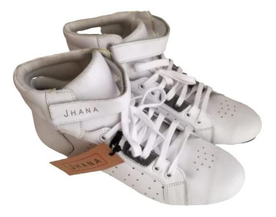 Zapatillas Botitas De Cuero Blancas - Envío Gratuito!!!