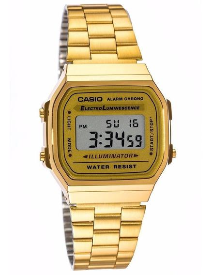Reloj Casio Vintage A168 Dorado Original