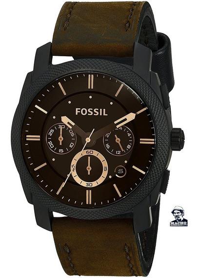 Reloj Fossil Machine Fs4656 En Stock Original Garantía Caja