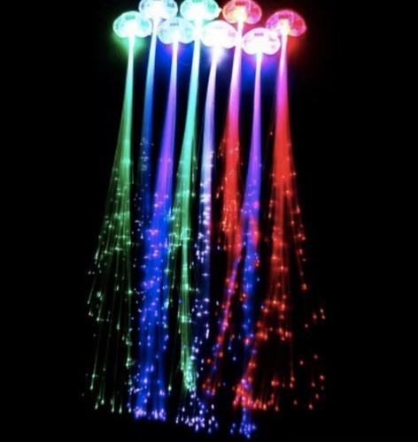 Extensiones Led Luminosas Por Color De Pelo X 5 Cotillon