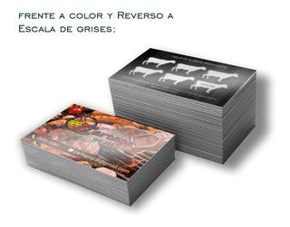 1000 Tarjetas De Presentación 4x1 Frente Color Y Reverso Byn