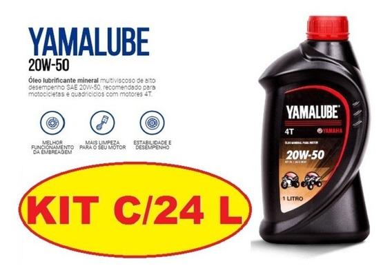 Óleo Yamalube 20w50 Mineral 4t Kit Com 24 Litros