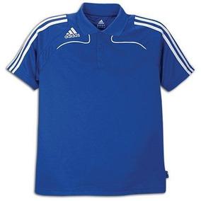 adidas Playera Polo S, Azul Cobalt