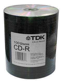 Cd Tdk Virgen 52x 80min Bulk 100 Unidades Original Oferta