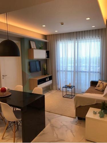 Lindo Apartamento Decorado Nascente Quarto E Sala No Caminho Das Árvores 45m2 - Cgr033 - 69447248