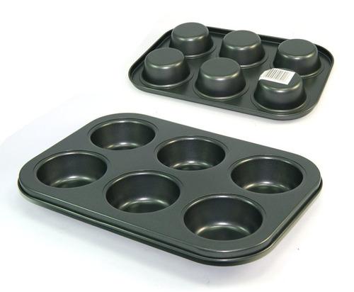 Imagen 1 de 7 de Molde Antiadherente Cupcake Muffins Magdalenas X 6