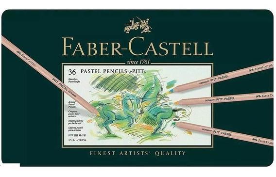 Lápis De Cor Pitt Pastel Seco Com 36 Cores - Faber Castell