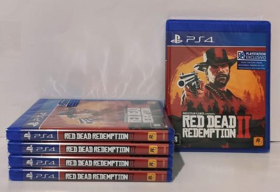 Red Dead Redemption 2 Ps4 Mídia Fisica+brinde Envio Limitado