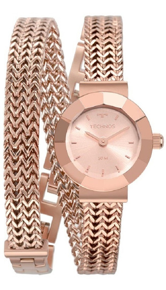 Relógio Technos Feminino Elegance Mini 5y20ir/4j Rose Analog
