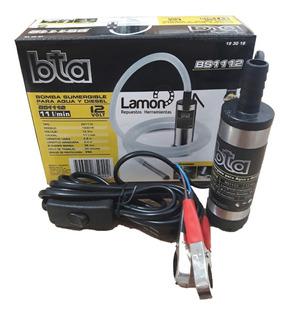 Bomba Trasvase Diesel Y Agua 12v Sumergible 11l/min Bta