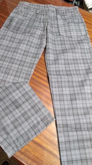 Pantalon En Loneta Escosesa T 38/40