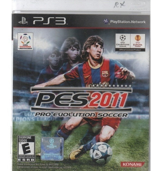 0008 Jogo Ps3 Pes2011 Pro Evolution Soccer Com Manual